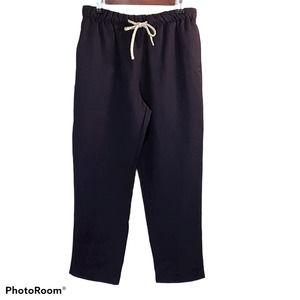 ZARA Navy Rustic Drawstring Pants Medium